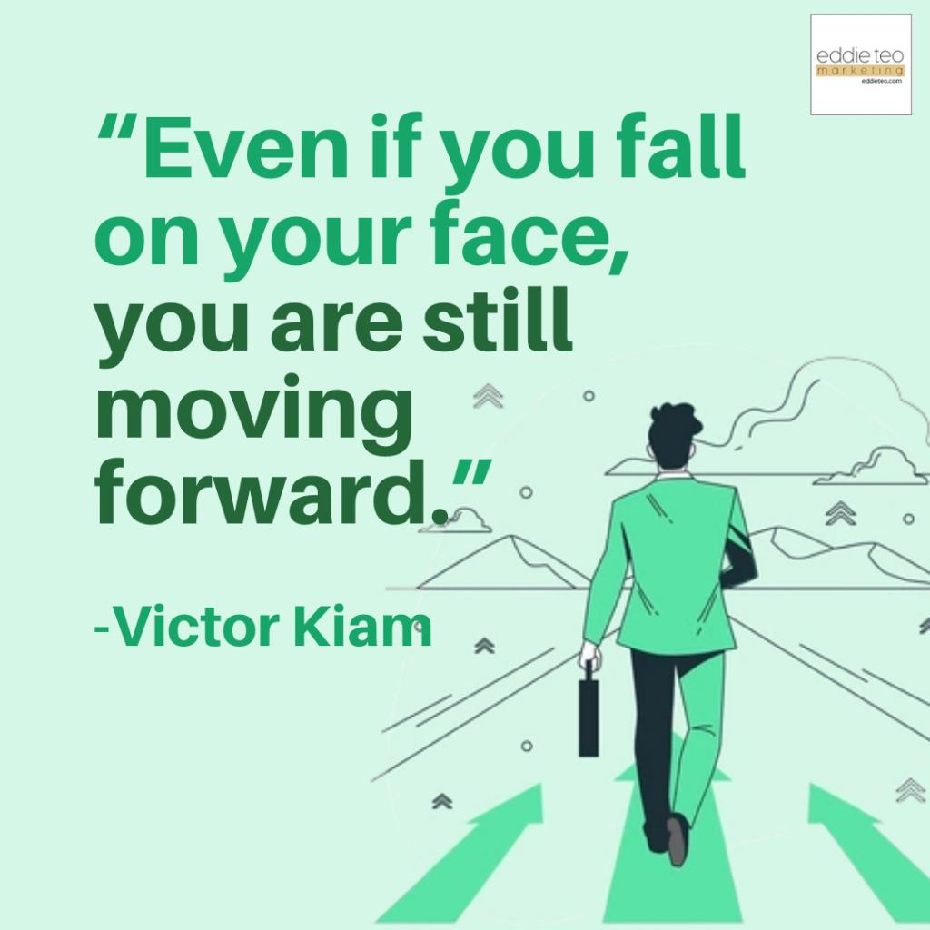 Fall in Your Face, You are Moving Forward